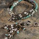 Komplety komplet,biżuteria etniczna,rzemienie