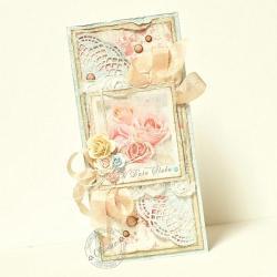 ślub,kartka,róże - Kartki okolicznościowe - Akcesoria