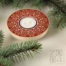 Ceramika i szkło lampion,świecznik,ceramika,czerwony,prezent