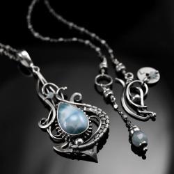 naszyjnik,ciba,amareno,wire-wrapping,srebro, - Naszyjniki - Biżuteria