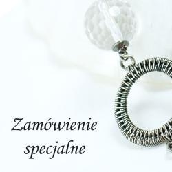 kolczyki,srebro,wire-wrapping - Kolczyki - Biżuteria