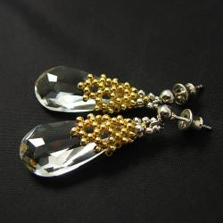 plecione,swarovski,misterny,smukłe - Kolczyki - Biżuteria
