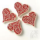 Ceramika i szkło magnesy,ceramiczne,czerwone,serca,serduszka