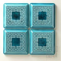ceramiczne dekory,kafle,ornamentowe,turkus - Ceramika i szkło - Wyposażenie wnętrz