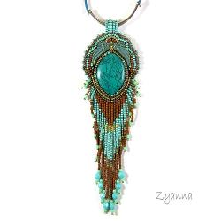 naszyjnik,wisior,turkus,wschodni - Naszyjniki - Biżuteria