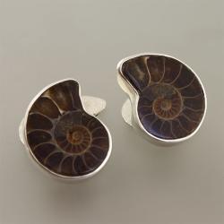spinki do mankietów z amonitem - Dla mężczyzn - Biżuteria