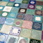 Ceramika i szkło kafle robione ręcznie,kolorowe kafle