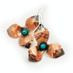 niezwykłe kolczyki kwiaty - Kolczyki - Biżuteria