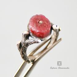 srebro,handmade,rubin - Pierścionki - Biżuteria
