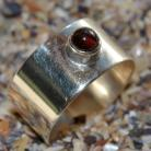 Pierścionki srebrny pierścień,pierścień z granatem
