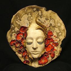 maska,twarz,ceramika,maki - Ceramika i szkło - Wyposażenie wnętrz