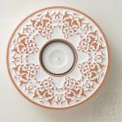 Ceramika i szkło lampion,świecznik,ceramika,ornament,biały