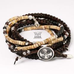 bransoleta,biżuteria męska,koraliki - Bransoletki - Biżuteria