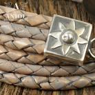 Bransoletki bransoleta,srebro,skórzana