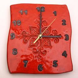 zegar ceramiczny,zegar,kafel,dekor - Ceramika i szkło - Wyposażenie wnętrz