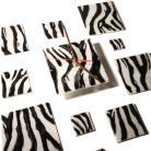 Zegary designerski zegar szklany zebra prezent