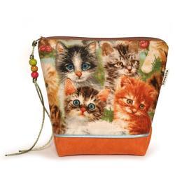 prezent,koty,etui,na kosmetyki,do torebki - Kosmetyczki - Dodatki