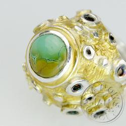 sygney,pierścionek,srebro,turkus,pomianowski - Pierścionki - Biżuteria