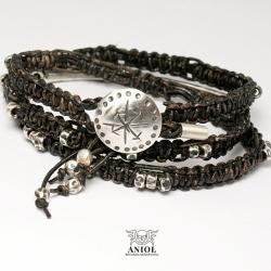 skórzana biżuteria,męska bransoleta,etno - Dla mężczyzn - Biżuteria