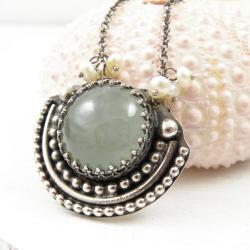naszyjnik,retro,Sunflower,srebro,romantyczny - Naszyjniki - Biżuteria