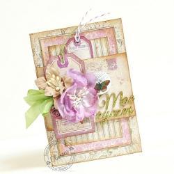 życzenia,motyl,kwiaty - Kartki okolicznościowe - Akcesoria