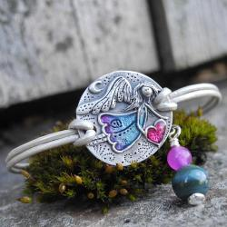 anioł,srebro,stróż - Bransoletki - Biżuteria