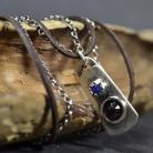Naszyjniki naszyjnik srebrny,z kamieniami,z granatem