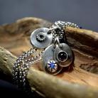 Naszyjniki naszyjnik ze srebrem i kamieniami,surowy naszyjnik