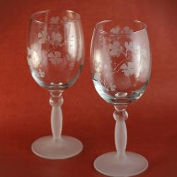 grawerowane,piaskowane,romantyczne,florystyczne - Ceramika i szkło - Wyposażenie wnętrz