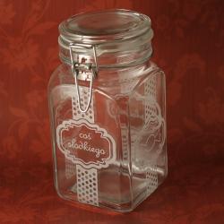 słój,grawerowany,słodycze - Ceramika i szkło - Wyposażenie wnętrz