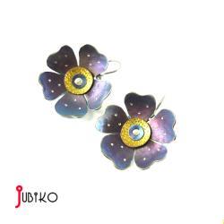 tytanowe,kwiaty,kolczyki,lekkie,kolorowe,kwi - Kolczyki - Biżuteria