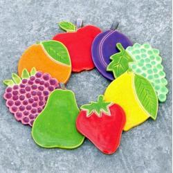 śliwki,maliny,magnesy,kuchenne,owoce - Ceramika i szkło - Wyposażenie wnętrz