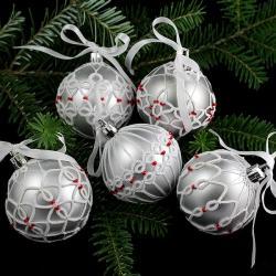 bombki,frywolitka,koronka,Boze Narodzenie - Inne - Wyposażenie wnętrz