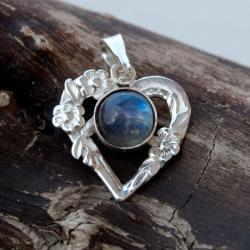 wisiorek,srebrny,serce,kobiecy,na prezent - Wisiory - Biżuteria