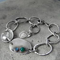 srebro,oksydowane,surowa,łańcuch,labradoryt, - Bransoletki - Biżuteria