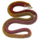 Naszyjniki naszyjnik,pleciony,koraliki,wąż,długi
