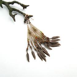 kolczyki koralikowe,kolczyki etno - Kolczyki - Biżuteria