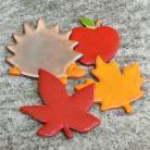 Magnesy na lodówkę liscie,jesień,magnesy,kolorowe,wesołe,jeż