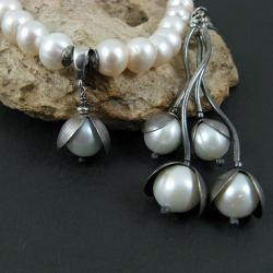 efektowny,klasyczny,perłowy - Komplety - Biżuteria