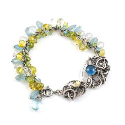 bransoletka,wire wrapping,ekskluzywna,luksusowa - Bransoletki - Biżuteria
