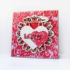 Kartki okolicznościowe scrapbooking,kartka,media,miłość,walentynki