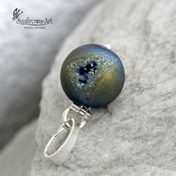 wisior,agat,druza,wyrazisty - Wisiory - Biżuteria