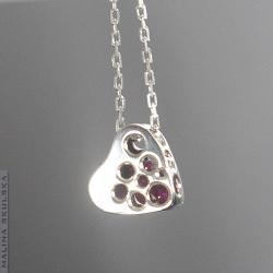 serce,delikatne,kobiece,ażurowe,walentynki - Naszyjniki - Biżuteria