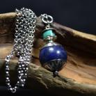 Naszyjniki lapis lazuli i turkus,długi naszyjnik