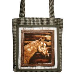 koń,konie,kratka,prezent,zwierzę,dziecko, - Na ramię - Torebki