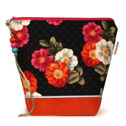 prezent dla kobiety,do torebki,na kosmetyki,kwiaty - Kosmetyczki - Dodatki