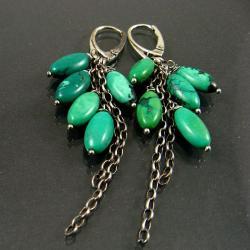 turkusowe,długie - Kolczyki - Biżuteria