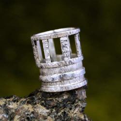 srebrna szeroka obrączka - Pierścionki - Biżuteria