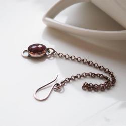 bransoletka z rubinem,rubin,czerwona,bordowa - Bransoletki - Biżuteria