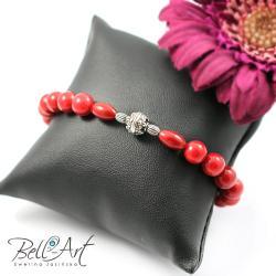 elegancka,koral,kobieca,uniwersalna - Bransoletki - Biżuteria